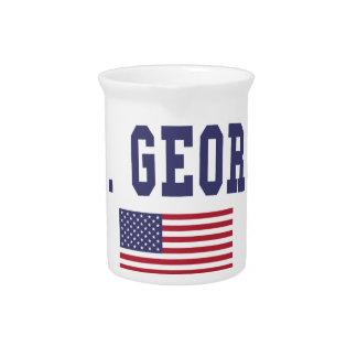 St. George US Flag Drink Pitchers