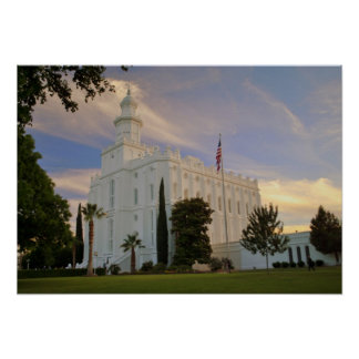 St. George Utah, LDS Temple Poster