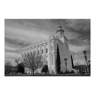 St. George, Utah LDS Temple Poster
