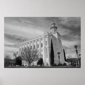 St. George, Utah LDS Temple Poster