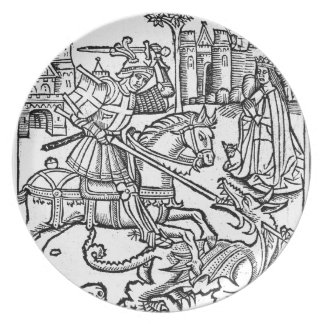 St George vs The Dragon Plate