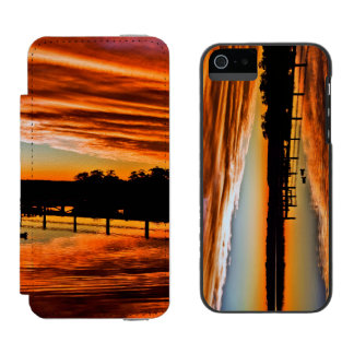 St Georges Basin 3 Autumn Wallet Case For iPhone SE/5/5s
