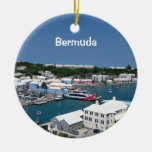 St. Georges, Bermuda Double-Sided Ceramic Round Christmas Ornament