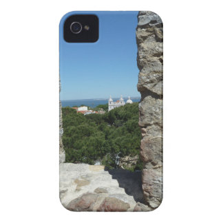 St George's Castle greeting card (Lisbon,Portugal) iPhone 4 Case-Mate Case