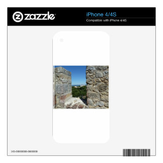 St George's Castle greeting card (Lisbon,Portugal) iPhone 4S Skins