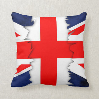 St.Georges Cross, Union Jack Throw Pillow Grunge