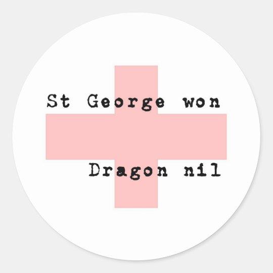 St George's Day Classic Round Sticker