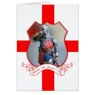 St. George's Day Greeting Card With Knight