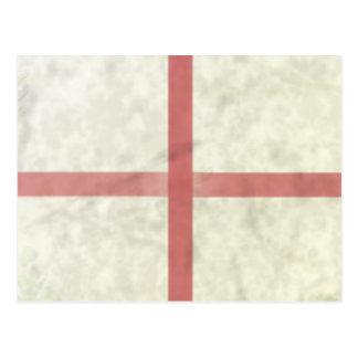 ST GEORGES FLAG. POSTCARD