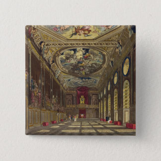 St. George's Hall, Windsor Castle, from 'Royal Res Pinback Button