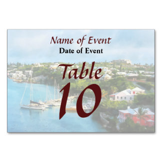 St. George's Harbour, Bermuda Table Cards