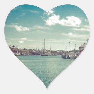 St Georges Pier Heart Sticker