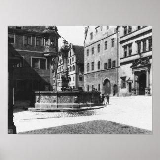 St. Georgs- Brunnen Poster