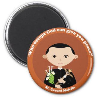 St. Gerard Majella 2 Inch Round Magnet