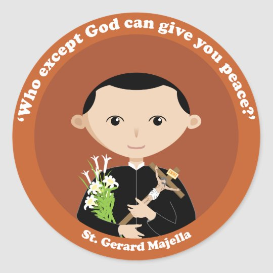 St. Gerard Majella Classic Round Sticker