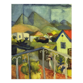 St. Germain at Tunis by August Macke Poster