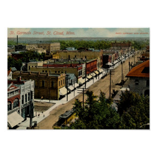 St. Germain St., St. Cloud, MN 1914 Vintage Poster