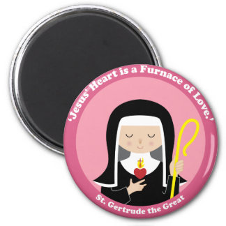St. Gertrude the Great 2 Inch Round Magnet