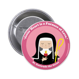 St. Gertrude the Great 2 Inch Round Button