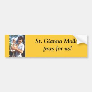 St. Gianna Molla bumper sticker