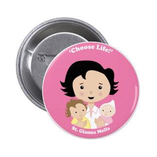 St. Gianna Molla Pinback Button