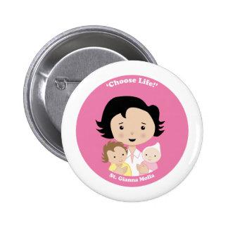 St. Gianna Molla Pinback Buttons