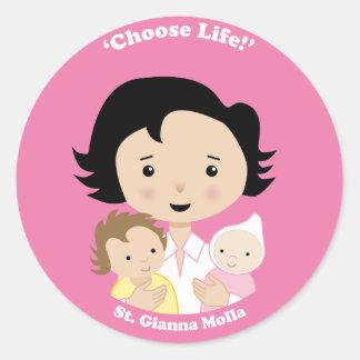 St. Gianna Molla Classic Round Sticker