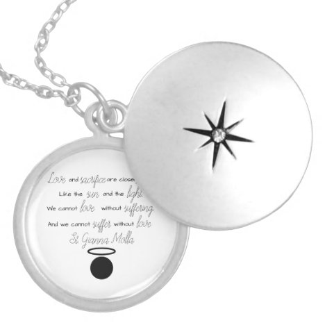 St. Gianna Molla Quote Locket Necklace