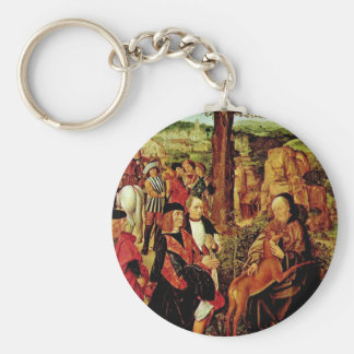 St Giles And The Hind By Meister Des Heiligen Ägi Key Chains