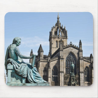 St. Giles Cathedral and David Hume Statue Mouse Pad