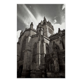 St. Giles Cathedral, Edinburgh [Art Print] - B&W