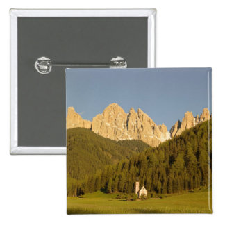 St Giovanni, Val di Funes, Dolomites, Italy Pinback Buttons
