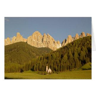 St Giovanni, Val di Funes, Dolomites, Italy Card