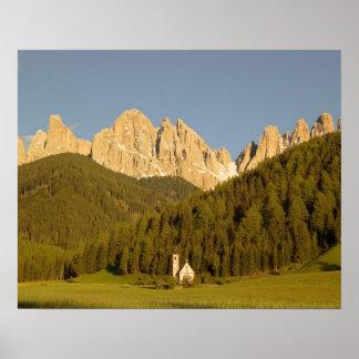 St Giovanni, Val di Funes, Dolomites, Italy Poster