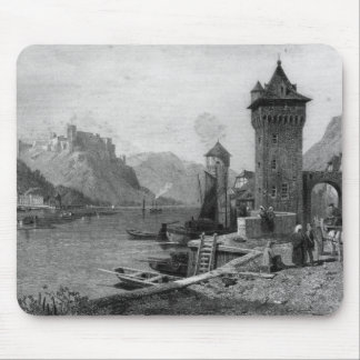 St. Goar, engraved by J. Outhwaite Mousepad
