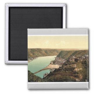 St. Goar, the Rhine, Germany rare Photochrom Magnet