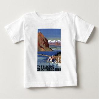 St.Gotthard Line Switzerland Vintage Travel Baby T-Shirt