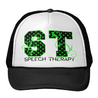 st green and black polka dots trucker hat
