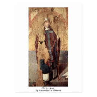 St. Gregory By Antonello Da Messina Post Card
