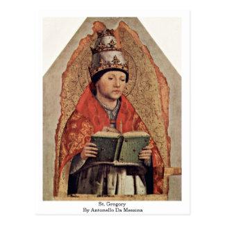 St. Gregory By Antonello Da Messina Postcards