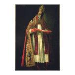 St Gregory el grande Impresión En Tela
