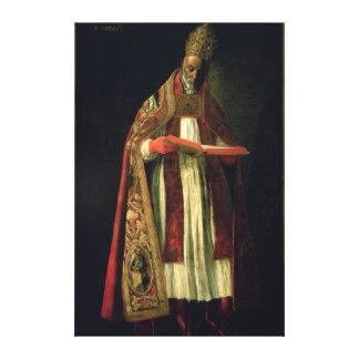 St Gregory el grande Lona Envuelta Para Galerias