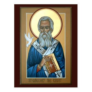 St Gregory la gran tarjeta del rezo Postales