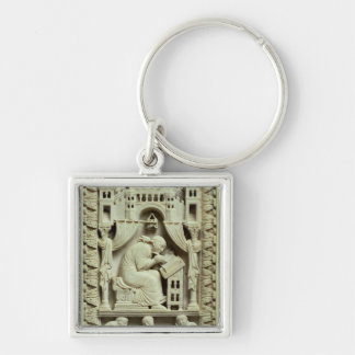 St. Gregory writing with scribes below Keychain