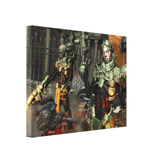 ST.Guerrilas Warfare Canvas Gallery Wrapped Canvas