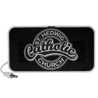 St. Hedwig Catholic Church Black and White Notebook Speaker