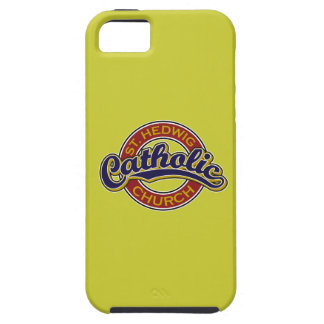 St. Hedwig Catholic Church Blue on Red iPhone 5 Cases