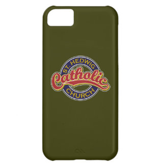 St. Hedwig Catholic Church Red on Blue iPhone 5C Cases