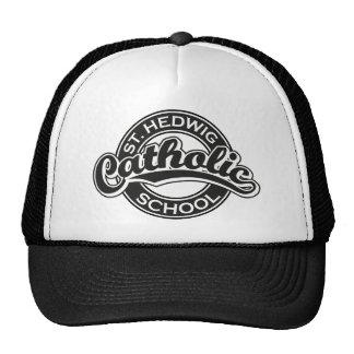 St. Hedwig Catholic School Black and White Trucker Hat