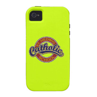 St. Hedwig Catholic School Blue on Red Case-Mate iPhone 4 Cases